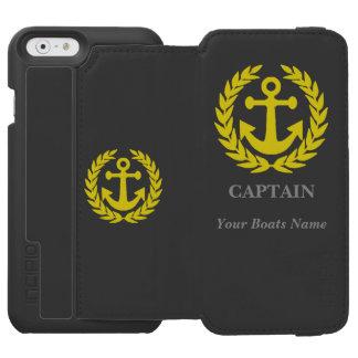 名前入りなボートの大尉 INCIPIO WATSON™ iPhone 5 財布型ケース