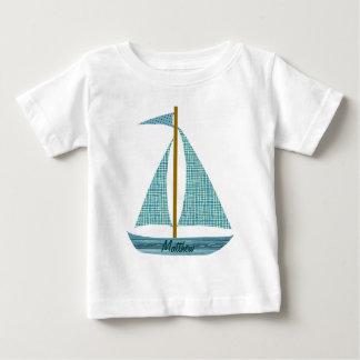 名前入りなボート ベビーTシャツ