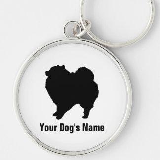 名前入りなポメラニア犬のポメラニアン キーホルダー