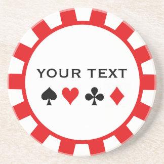 名前入りなポーカー用のチップのコースター コースター