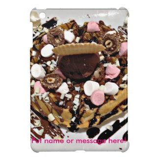 名前入りなマシュマロおよびチョコレートケーキ iPad MINIケース