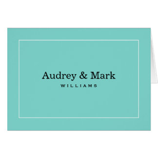名前入りなメッセージカード|の水の青 カード