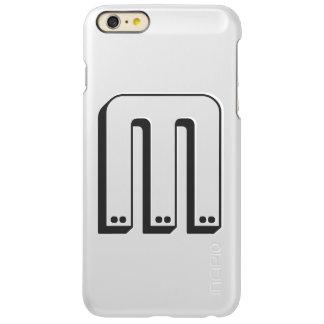 名前入りなモノグラムによってブラシをかけられる金属 INCIPIO FEATHER SHINE iPhone 6 PLUSケース