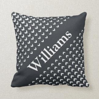 名前入りなモノグラムの枕装飾の家 クッション