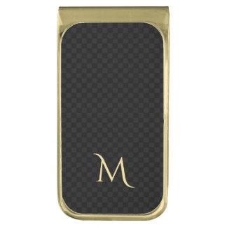 名前入りなモノグラムの金ゴールドによってめっきされる真鍮のマネークリップ ゴールド マネークリップ