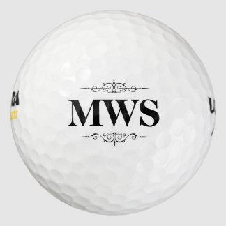 名前入りなモノグラム ゴルフボール