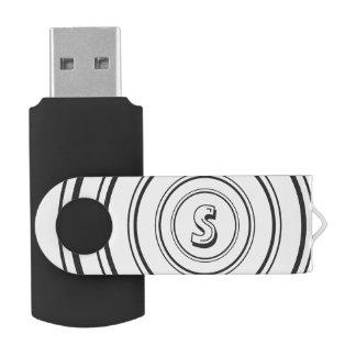 名前入りなモノグラム USBフラッシュドライブ