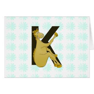 名前入りなモノグラムKの適用範囲が広い馬 カード