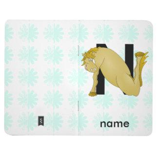名前入りなモノグラムNのおもしろいな子馬 ポケットジャーナル