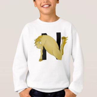 名前入りなモノグラムNの漫画の子馬 スウェットシャツ