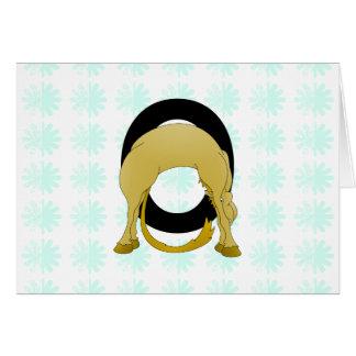 名前入りなモノグラムOの適用範囲が広い子馬 カード