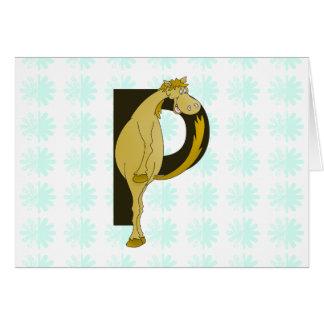 名前入りなモノグラムPの適用範囲が広い子馬 カード
