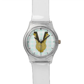 名前入りなモノグラムVのかわいい馬 腕時計