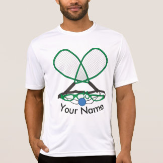 名前入りなラケットボール Tシャツ