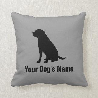 名前入りなラブラドル・レトリーバー犬のラブラドールの・のレトリーバー クッション