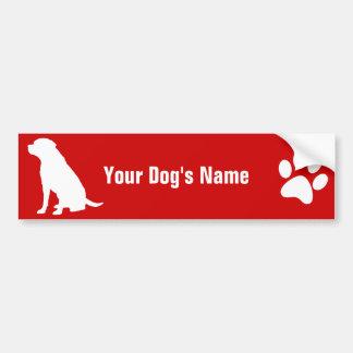 名前入りなラブラドル・レトリーバー犬のラブラドールの・のレトリーバー バンパーステッカー