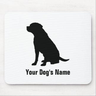 名前入りなラブラドル・レトリーバー犬のラブラドールの・のレトリーバー マウスパッド