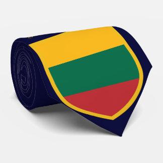 名前入りなリスアニアの旗 カスタムネクタイ