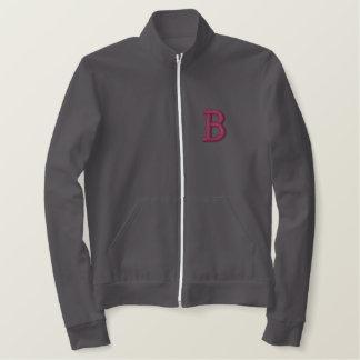 名前入りなレトロの学校代表の学生スポーツ優秀選手のフリースのジャケット 刺繍入りジャケット