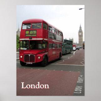 名前入りなロンドンの二階建てバス ポスター