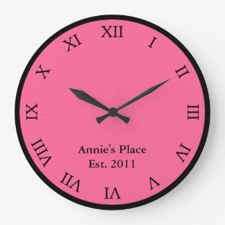 名前入りなローマ数字 ラージ壁時計