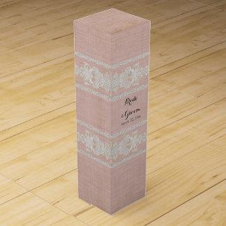名前入りなワイン箱の素朴なレースによって老化させるヴィンテージ ワイン用化粧箱