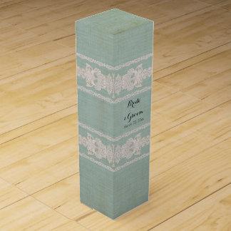 名前入りなワイン箱の素朴なレースによって老化させるヴィンテージ ワイン ギフトボックス