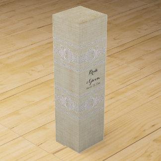 名前入りなワイン箱の素朴なレースによって老化させるヴィンテージ ワイン 化粧箱