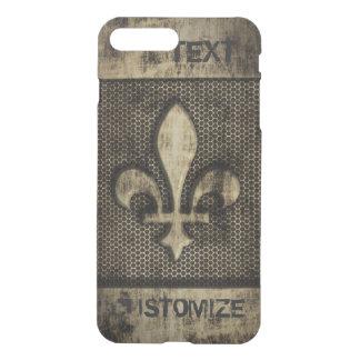 名前入りなヴィンテージのグランジな(紋章の)フラ・ダ・リ iPhone 8 PLUS/7 PLUS ケース