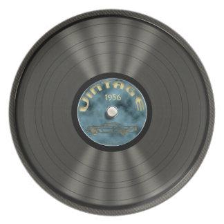 名前入りなヴィンテージのレコード プレート