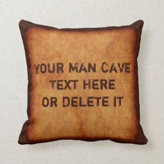 名前入りなヴィンテージの人の洞窟の装飾用クッション クッション