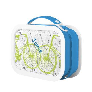 名前入りなヴィンテージの自転車のお弁当箱 ランチボックス