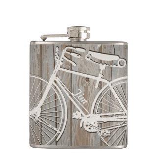 名前入りなヴィンテージの自転車の芸術のフラスコ フラスク