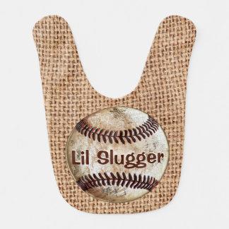 名前入りなヴィンテージの野球の赤ん坊のギフト、よだれかけ ベビービブ