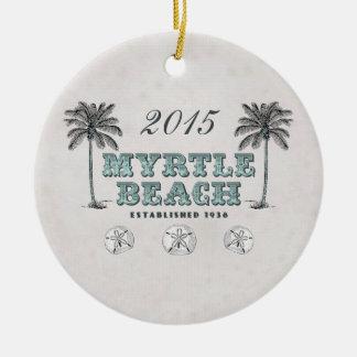 名前入りなヴィンテージMyrtle Beachサウスカロライナ セラミックオーナメント