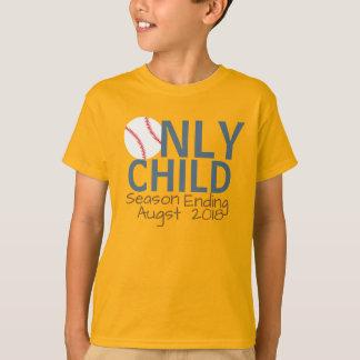 名前入りな一人っ子の季節の終りの野球 Tシャツ