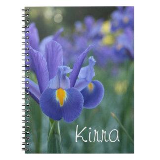 名前入りな一流のアイリスギフトのノート ノートブック
