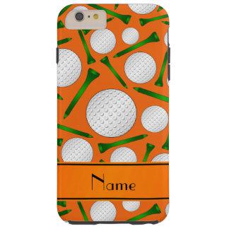 名前入りな一流のオレンジゴルフ・ボールのティー TOUGH iPhone 6 PLUS ケース