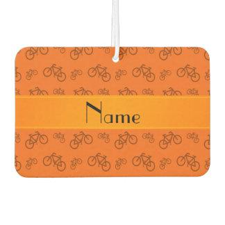名前入りな一流のオレンジ自転車 カーエアーフレッシュナー