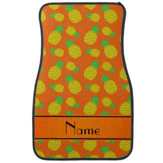 名前入りな一流のオレンジ黄色のパイナップル カーマット
