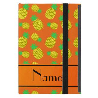 名前入りな一流のオレンジ黄色のパイナップル iPad MINI ケース