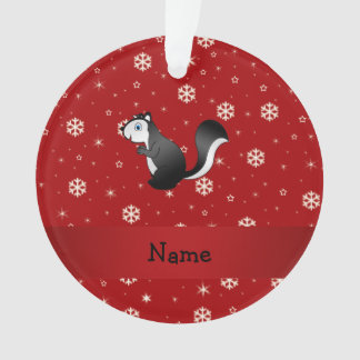 名前入りな一流のスカンクの赤の雪片