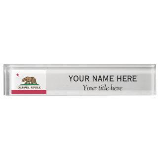 名前入りな一流のタイトルカリフォルニア共和国の旗