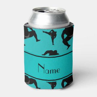 名前入りな一流のターコイズの相撲レスリング 缶クーラー