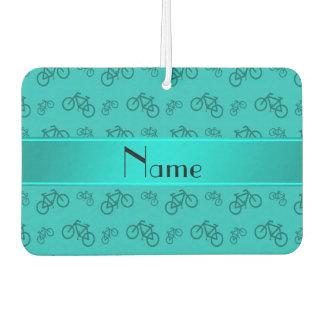 名前入りな一流のターコイズの自転車 カーエアーフレッシュナー