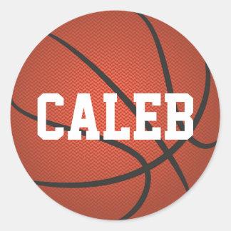名前入りな一流のバスケットボールのステッカー ラウンドシール