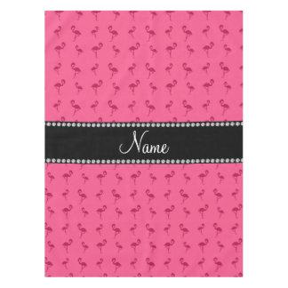 名前入りな一流のピンクのフラミンゴ テーブルクロス