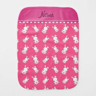 名前入りな一流のピンクの白いバニー バーブクロス
