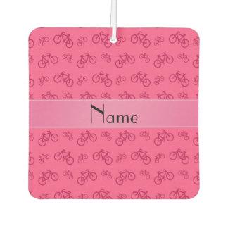 名前入りな一流のピンクの自転車 カーエアーフレッシュナー