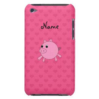 名前入りな一流のブタのピンクのハート Case-Mate iPod TOUCH ケース